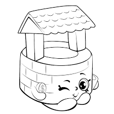 Simple Shopkins Coloring Page