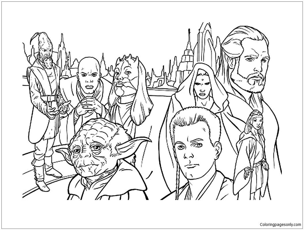 Simple Star Wars Coloring Page Free Coloring Pages Online