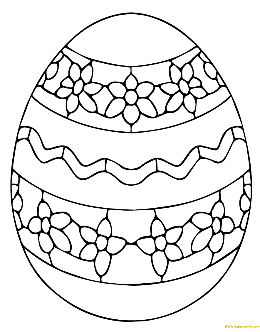 Blank Easter Egg Coloring Pages - GetColoringPages.com | 1132x885
