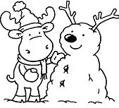 Simple Winter Coloring Page