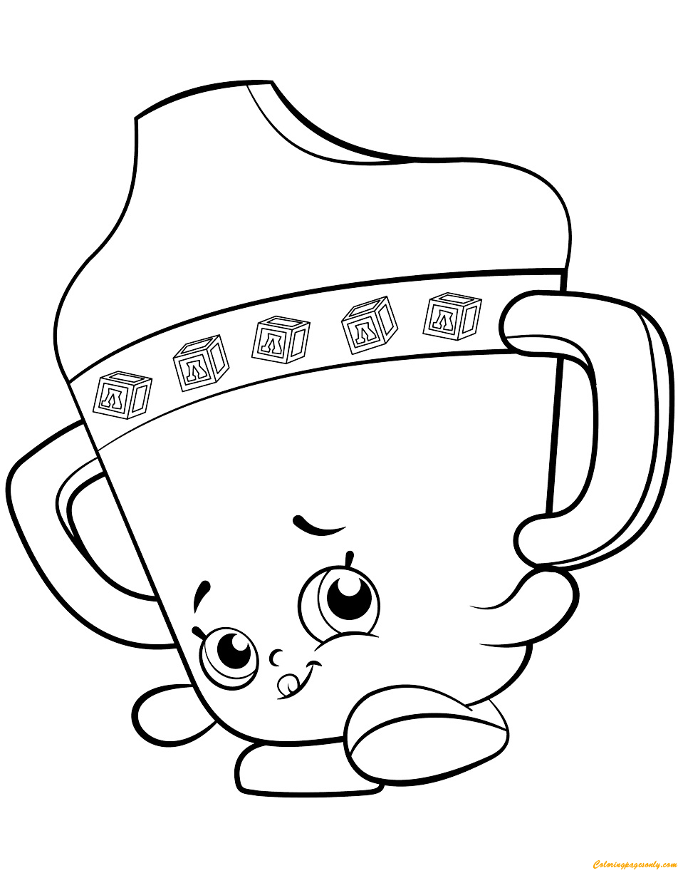 Sippy Sips Baby Shopkin Season 2 Coloring Page