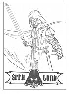 Sith Lord Vader – Star Wars Coloring Page
