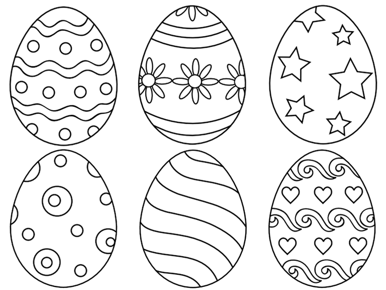 Six Easter Egg Palette Patterns