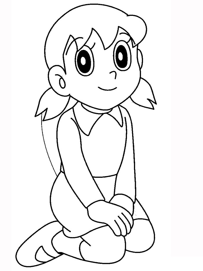 Sizuka From Doraemon Coloring Page
