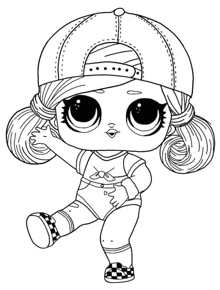 Lol Suprise Doll Ska8e Girl Coloring Page