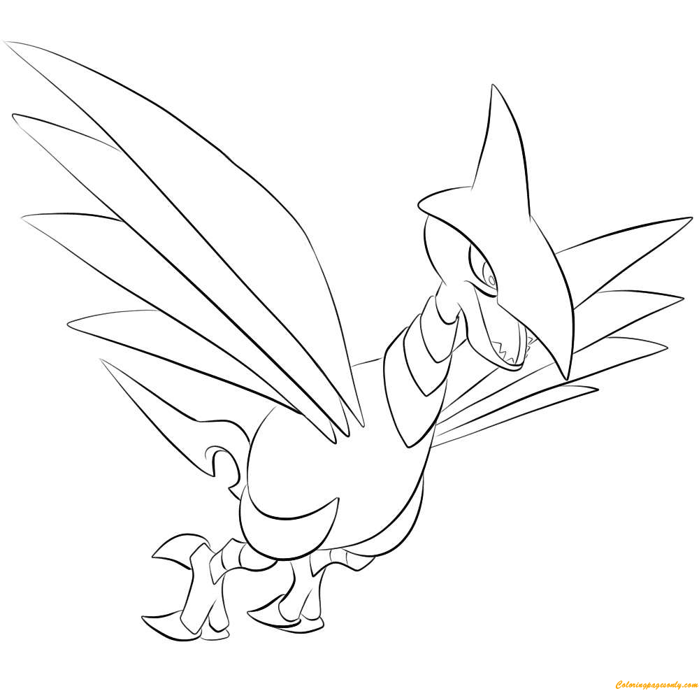Skarmory pokemon coloring page free coloring pages online for Stampe da colorare spiderman