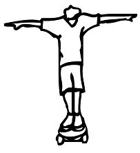 Skateboard Letter T Coloring Page
