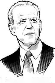 Sketch Joe Biden Coloring Page