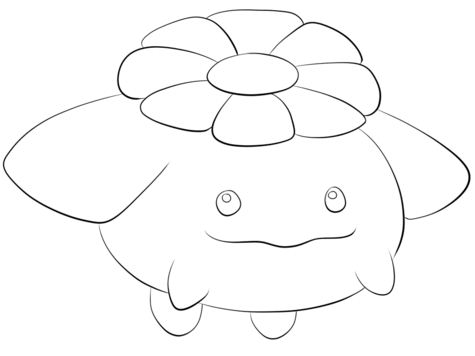 Skiploom Pokemon Coloring Page