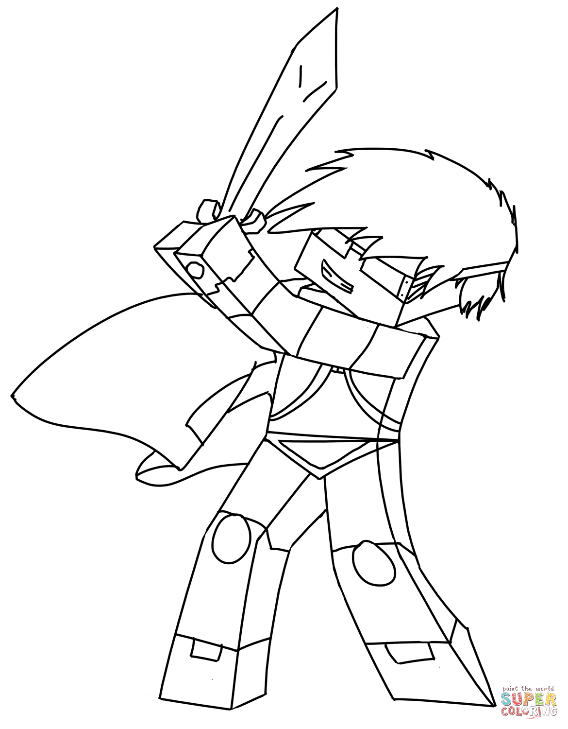 Skydoesminecraft From Minecraft Coloring Page Free Coloring Pages Online