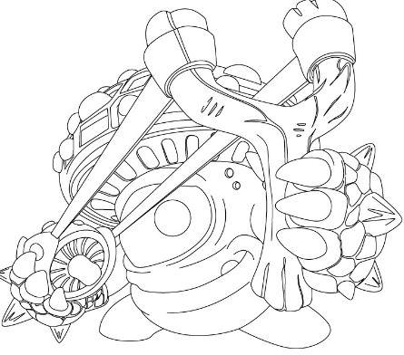 Skylander Giants 1 Coloring Page