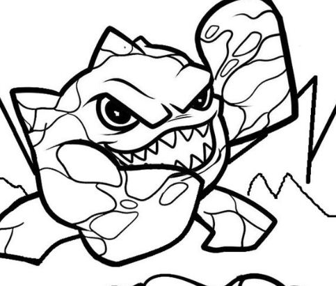 Skylander Giants 2 Coloring Page