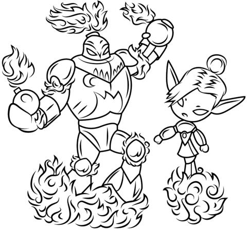 Skylanders Blast Zone and Mini Jini from Skylanders