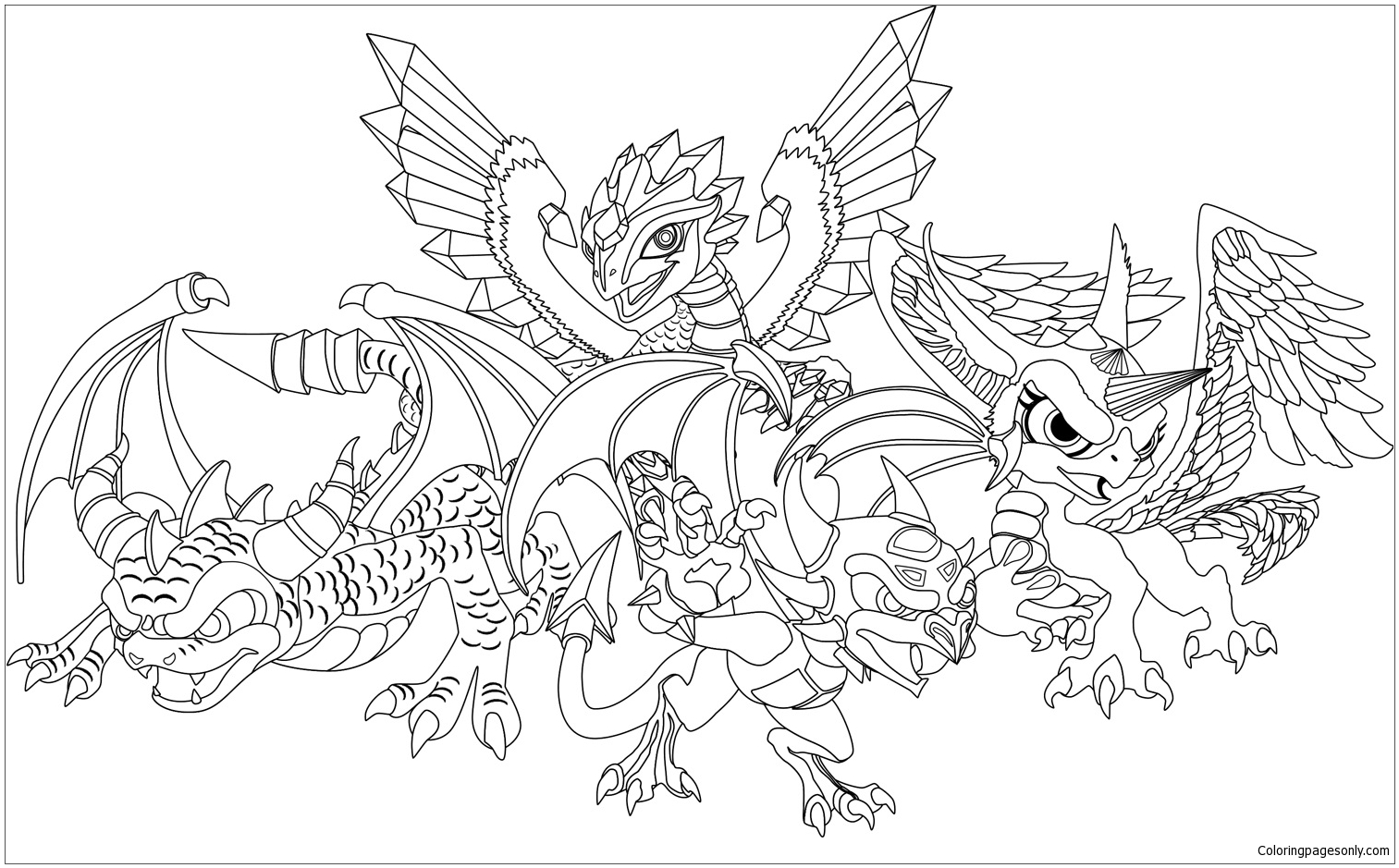 Skylanders Dragons Coloring Page - Free Coloring Pages Online