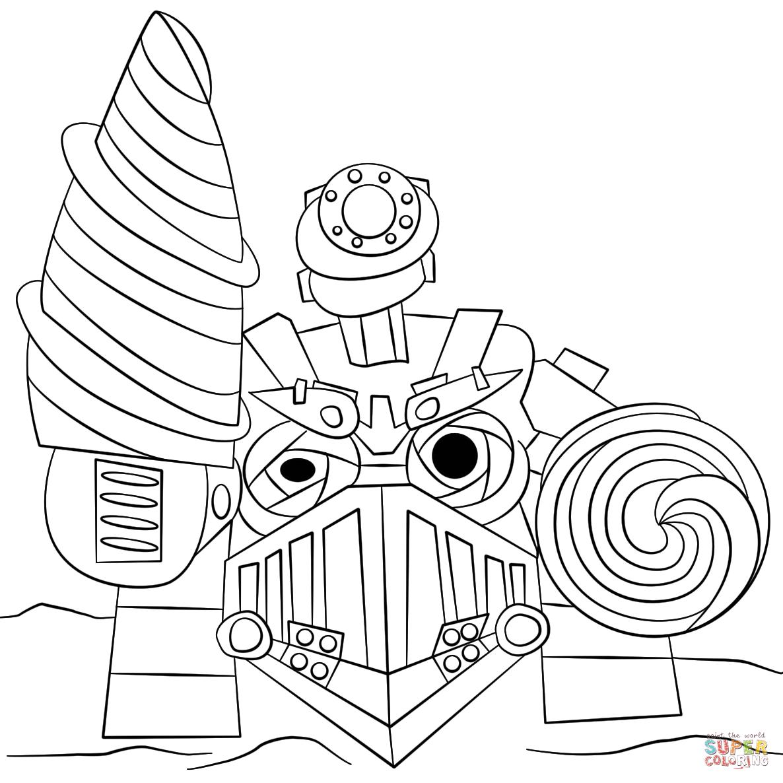 skylanders drill sergeant from skylanders coloring page