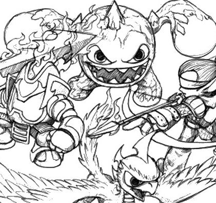 Flameslinger coloring pages ~ Skylanders Flameslinger Coloring Page - Free Coloring ...