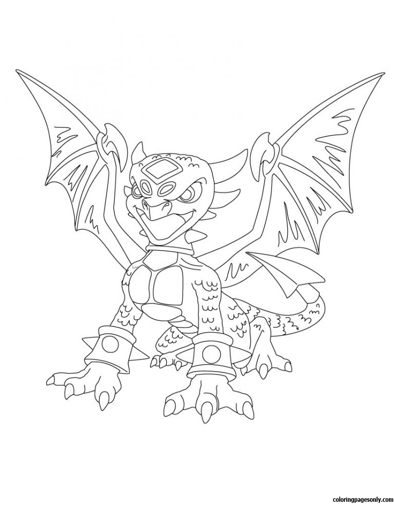 Skylanders giants 1 coloring page free coloring pages online for Skylanders giants thumpback coloring pages