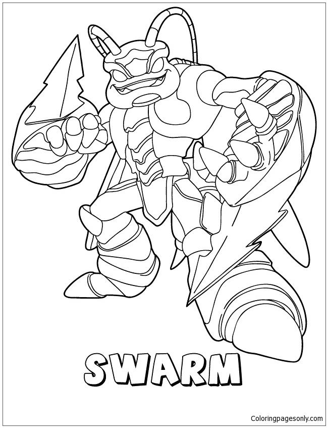 Skylanders Giants Air Swarm Coloring Page - Free Coloring Pages Online