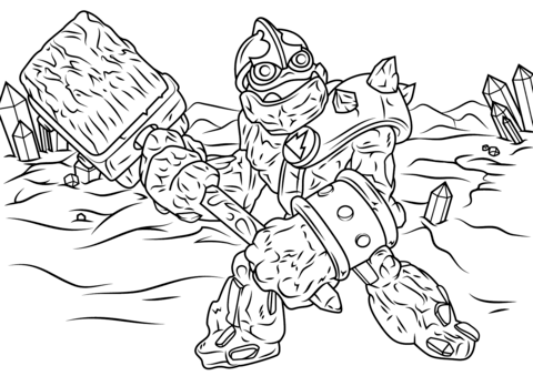 Skylanders Giants Crusher from Skylanders Coloring Page