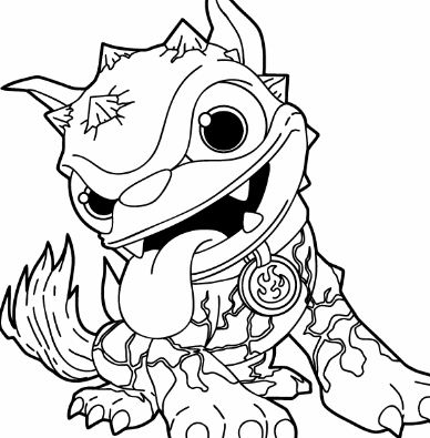 Skylanders Giants Fire Hot Dog Coloring Page