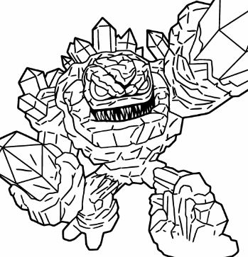 Skylanders Giants Lightcore Prism Break Coloring Page