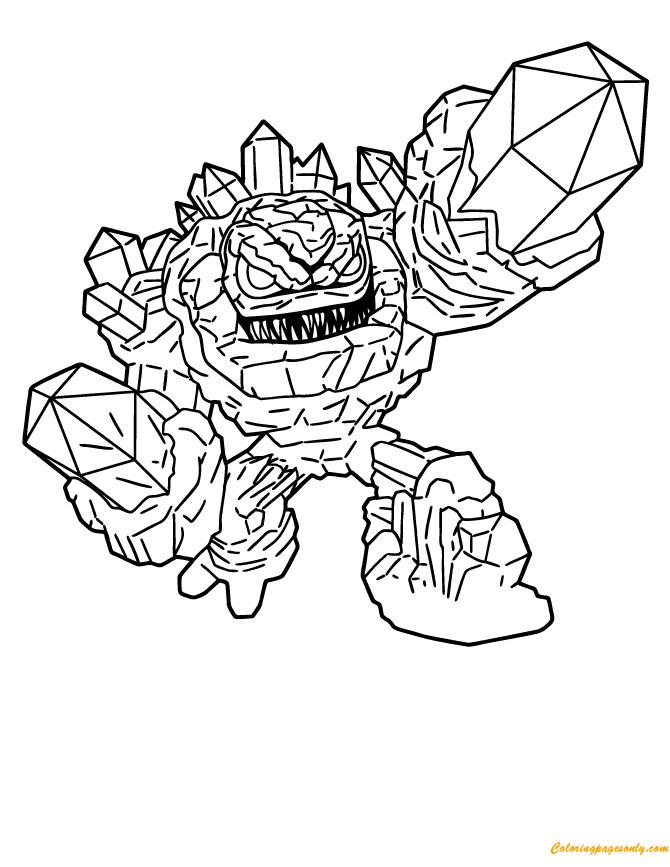 Skylanders Giants Lightcore Prism Break Coloring Pages