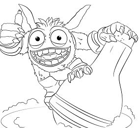 Skylanders Giants Pop Fizz Coloring Page