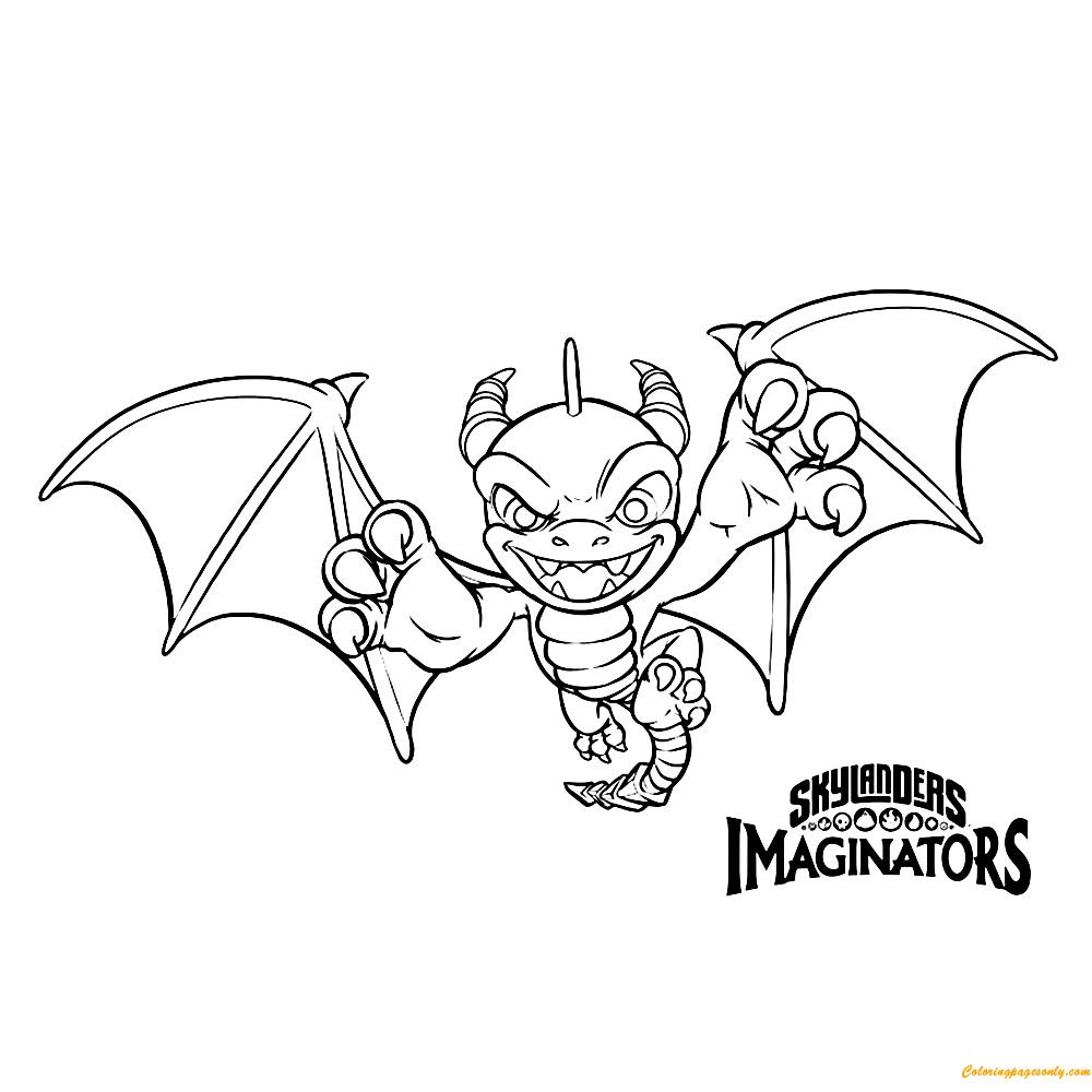 Skylanders Imaginators - Spyro Coloring Page - Free Coloring Pages ...