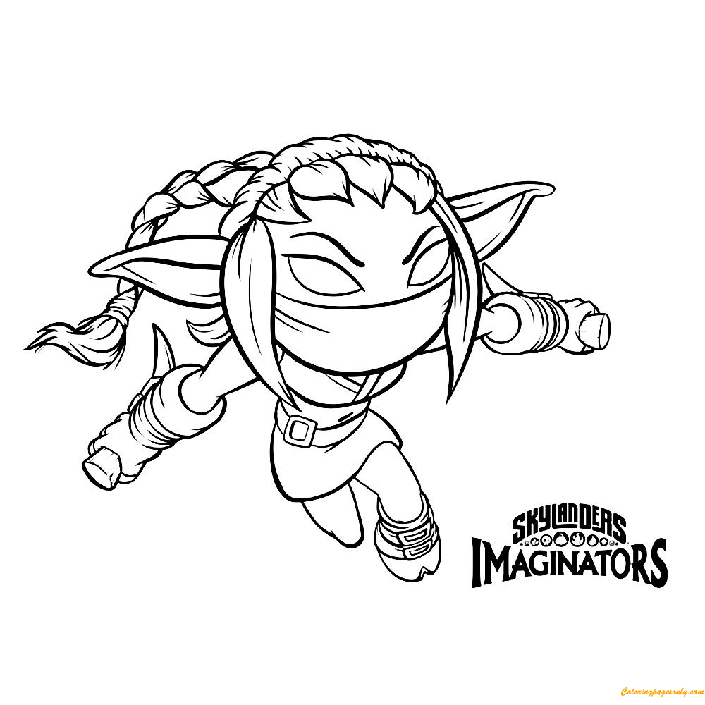 Skylanders Imaginators Coloring Page Free Coloring Pages