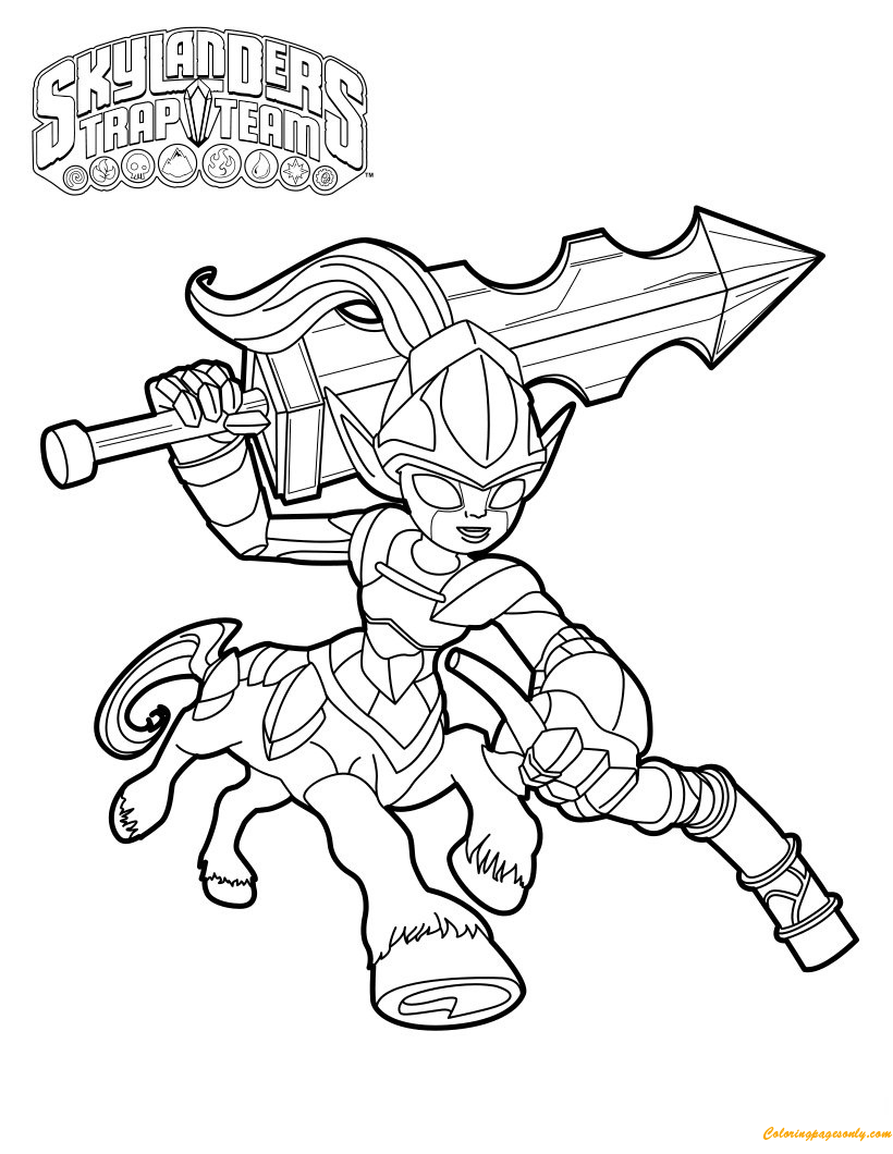 Skylanders Knight Mare Coloring Pages