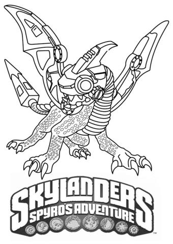 Skylanders Spyro's Adventure Drobot from Skylanders Coloring Page