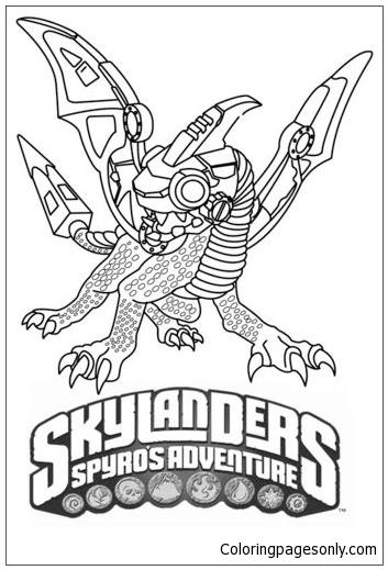 Flameslinger coloring pages ~ Skylanders Spyros Adventure Drobot Coloring Page - Free ...