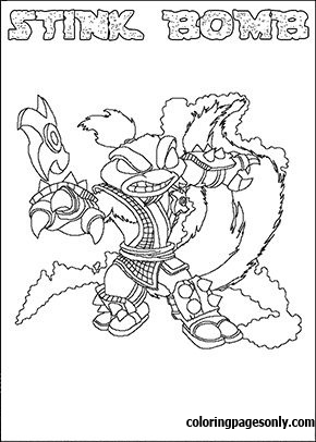 Skylanders Swap Force – Stink Bomb Coloring Pages