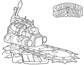 Skylanders Trap Team Coloring Page
