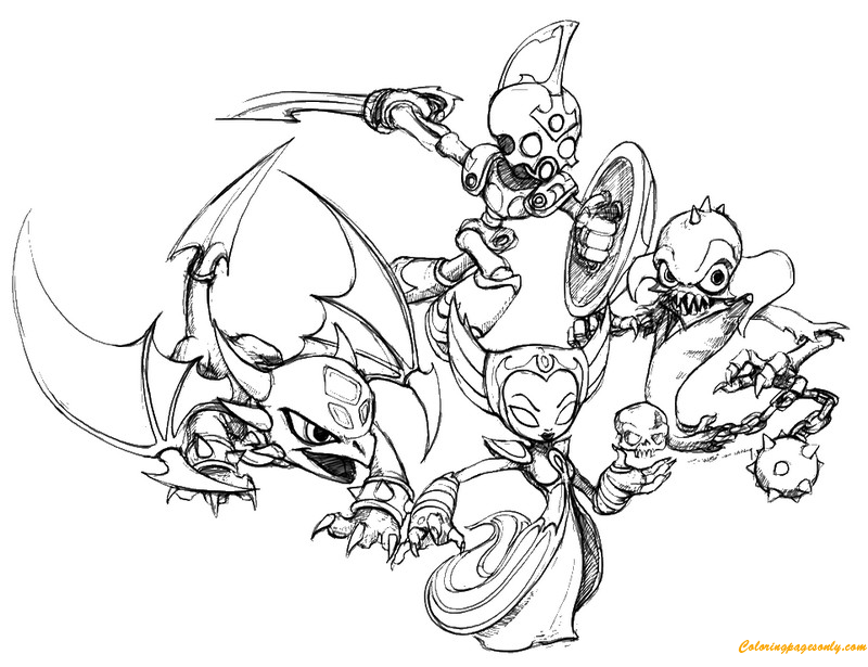 Skylanders Undead Coloring Page Free Coloring Pages Online