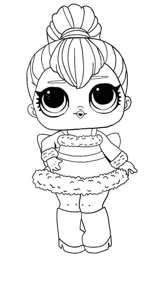 Lol Suprise Doll Sleigh Babe Coloring Page