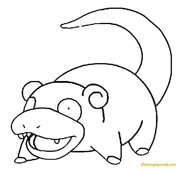 Slowpoke Pokemon Coloring Page - Free Coloring Pages Online