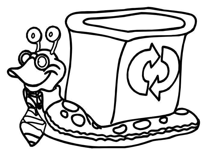 Slugs Recycle Coloring Page