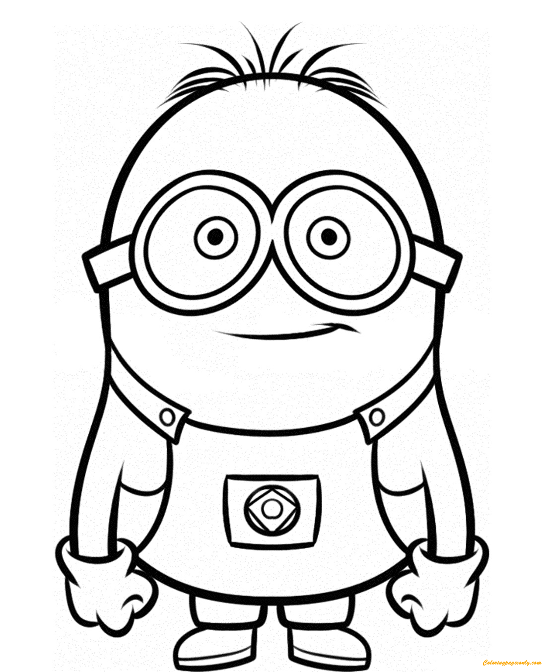 Smiley Minion Despicable Me Sb76d Coloring Page