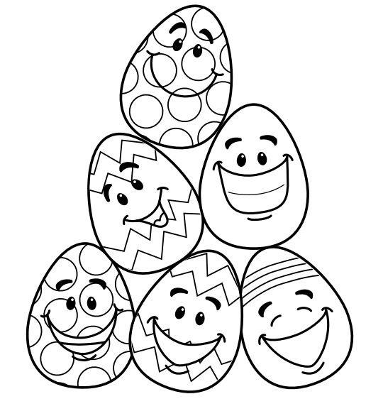 Smiling Easter Eggs