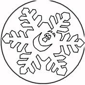 Smiling Snowflake Coloring Page
