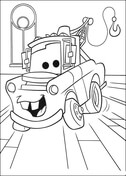 Mater Truck from Disney Cars Coloring Page