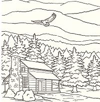 Smoky Mountains National Park Coloring Page