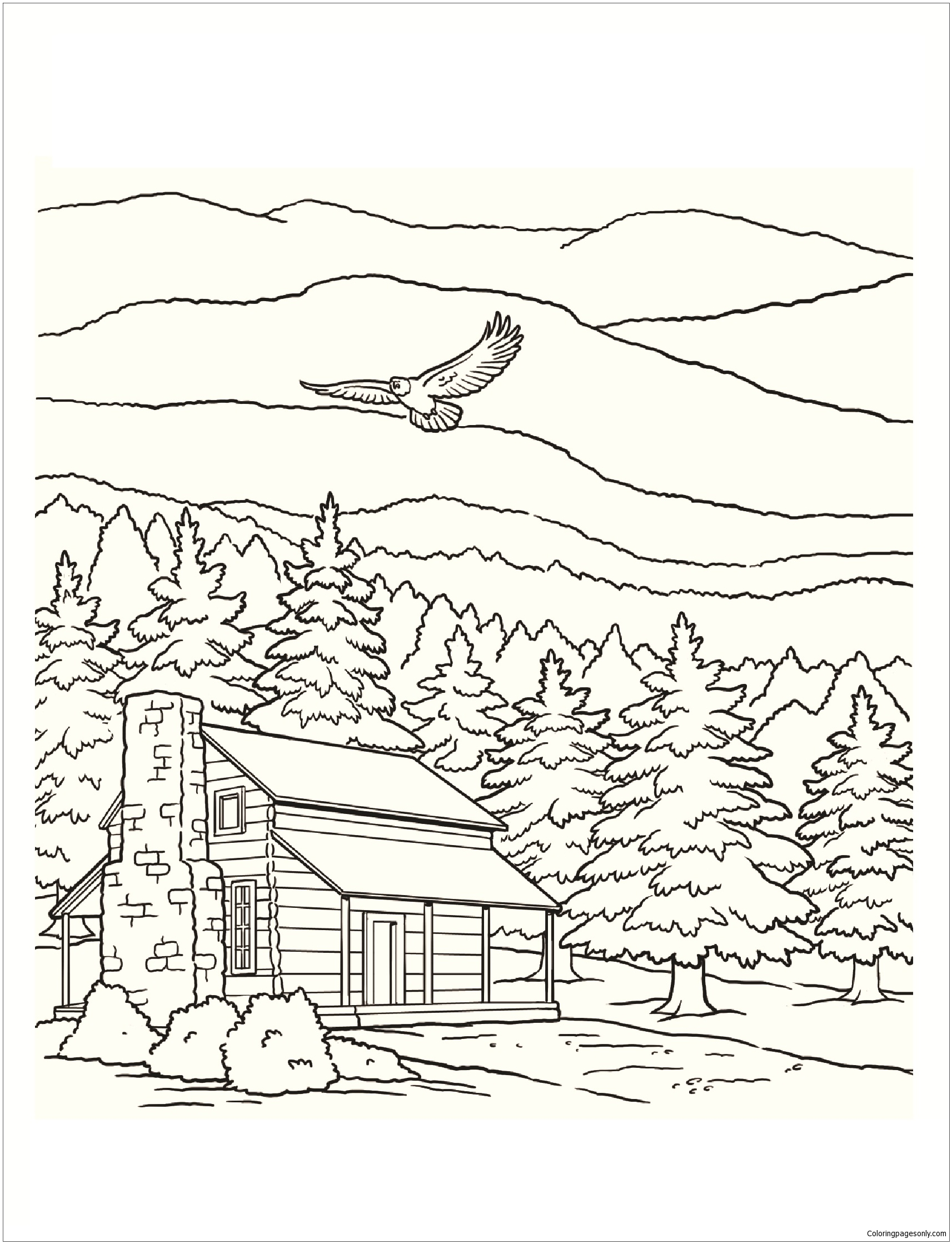 Smoky Mountains National Park Coloring Page Free