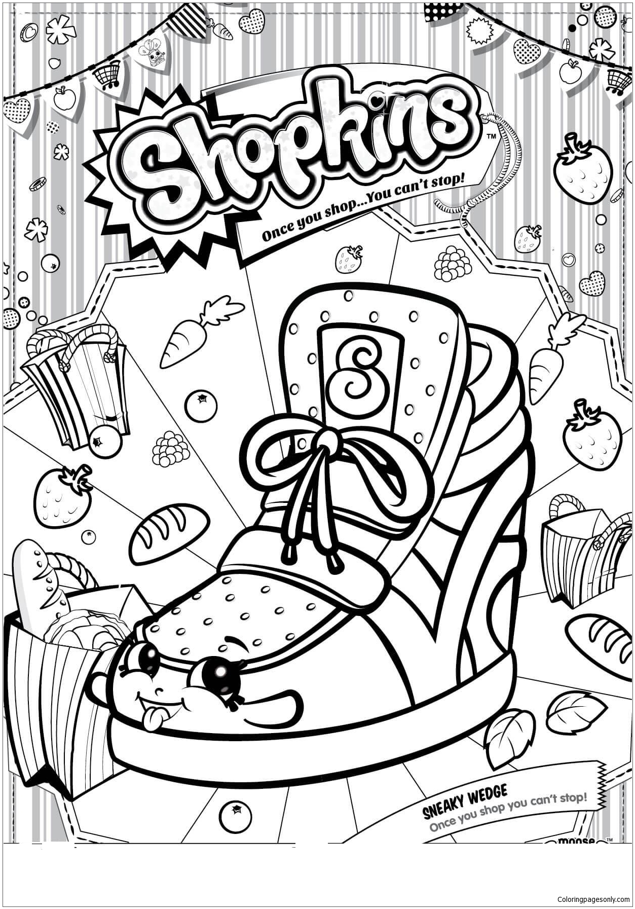 Sneaky Wedge Shopkin Season 2 Coloring Page