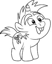 Snips from My Little Pony Coloring Page
