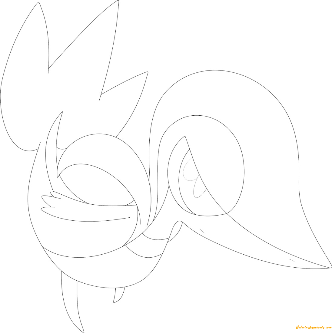 Snivy Pokemon Coloring Page Free Coloring Pages Online Snivy Coloring Pages
