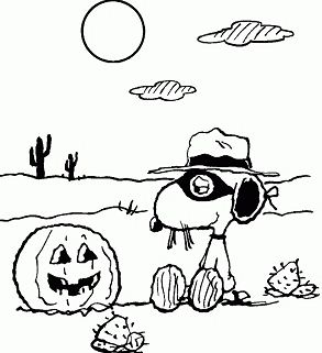Snoopy Halloween Coloring Page