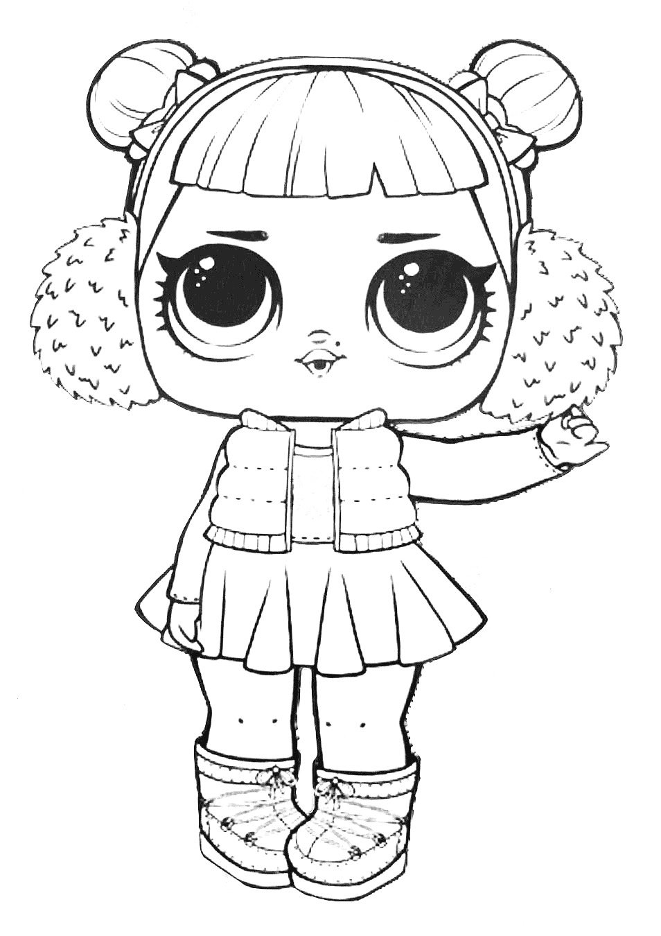 Lol Suprise Doll Snow Angel Coloring Page