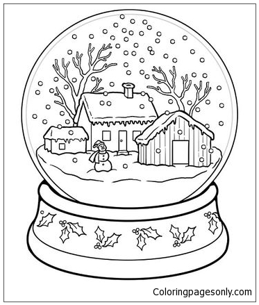 Snow Globe Coloring Page Free Coloring Pages Online